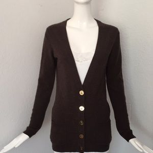 Ply cashmere button down sweater